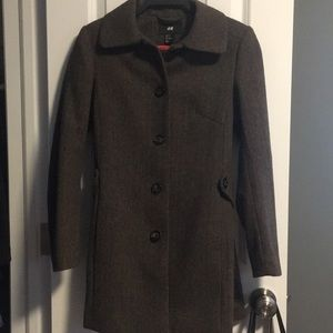 H&M Olive Green Wool Jacket